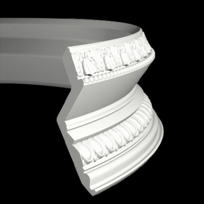 CORNICHE de plafond flexible POLYURÉTHANE F1.137