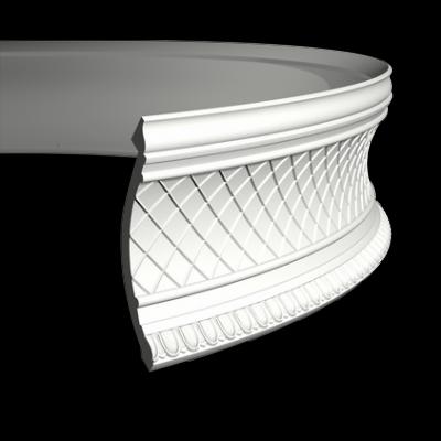 CORNICHE de plafond flexible POLYURÉTHANE F1.138