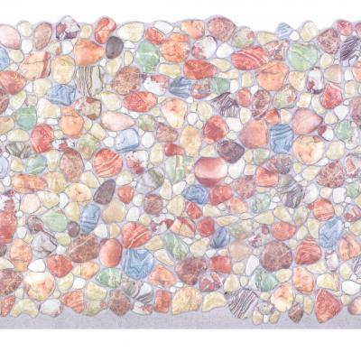Panneau décoratif mural PVC 95x47cm, 51897