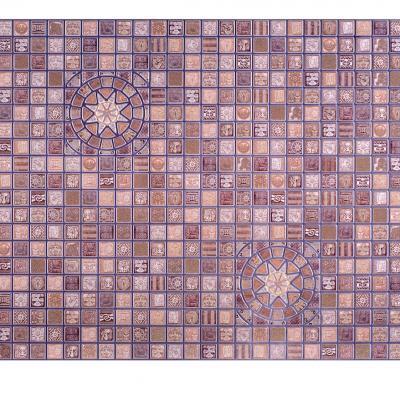 Panneau décoratif mural Mosaïque PVC 95x48cm 52757