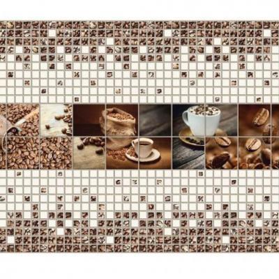 Panneau décoratif mural Mosaïque PVC 276x64cm 54508