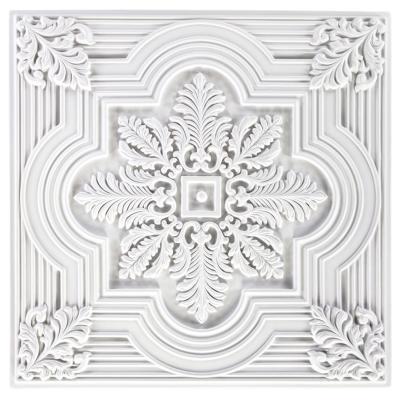 Dalle de plafond polyuréthane Antichoc 60x60cm  FH5085