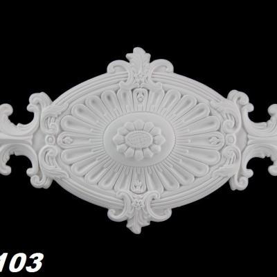 ROSACE de plafond POLYURÉTHANE FR8103 60x31cm
