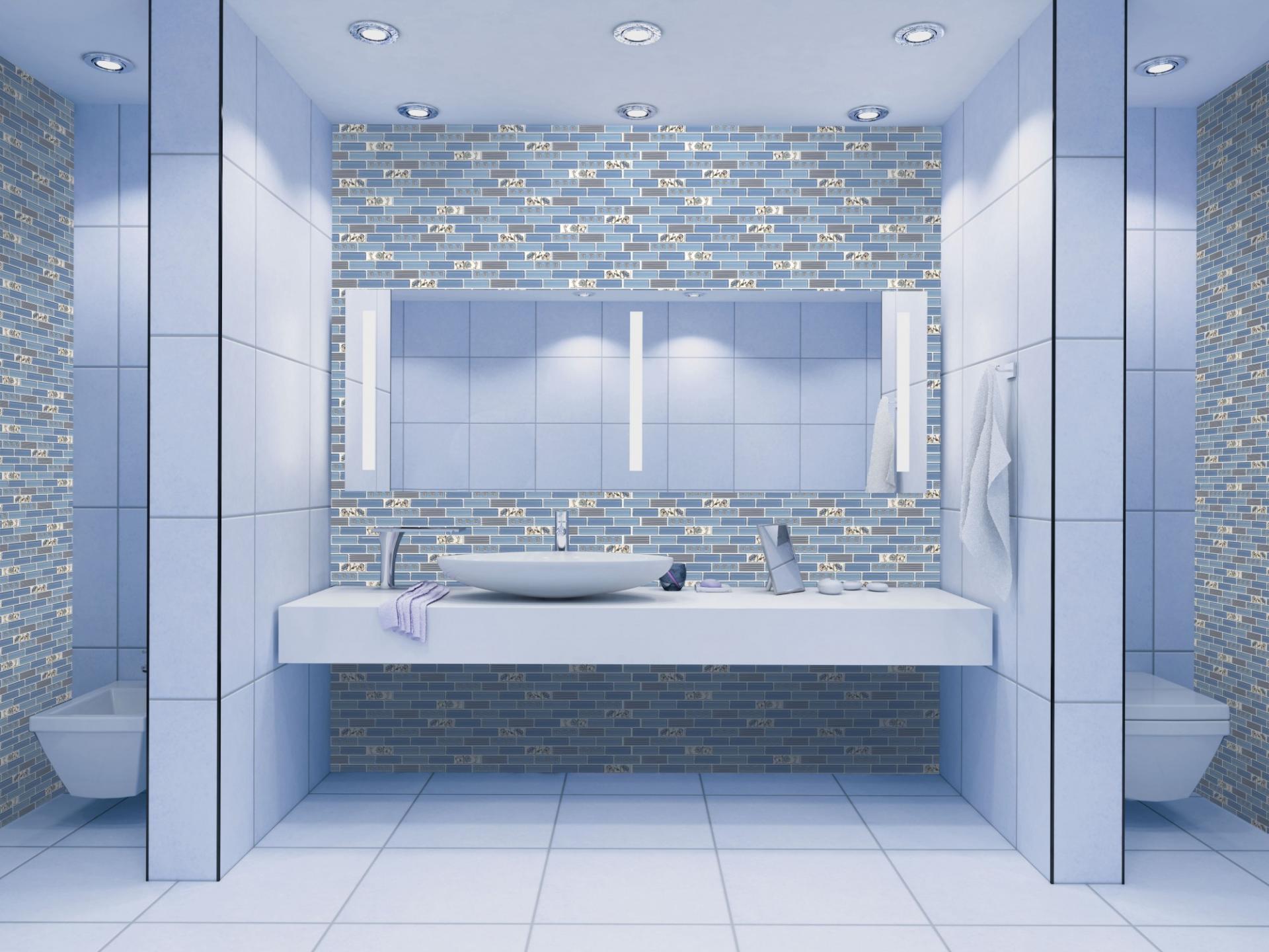 Mosaic blue flowers 2