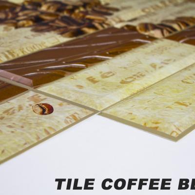 Panneau décoratif mural PVC 95x48cm, TILE COFFEE BEANS