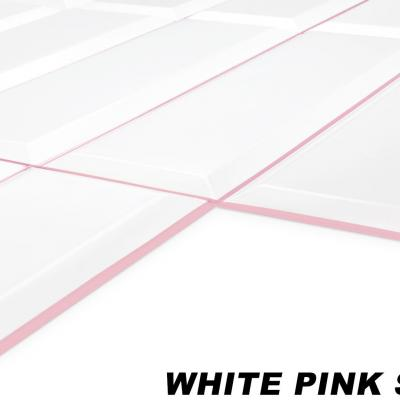Panneau décoratif mural PVC 95x48cm, WHITE PINK SEAM