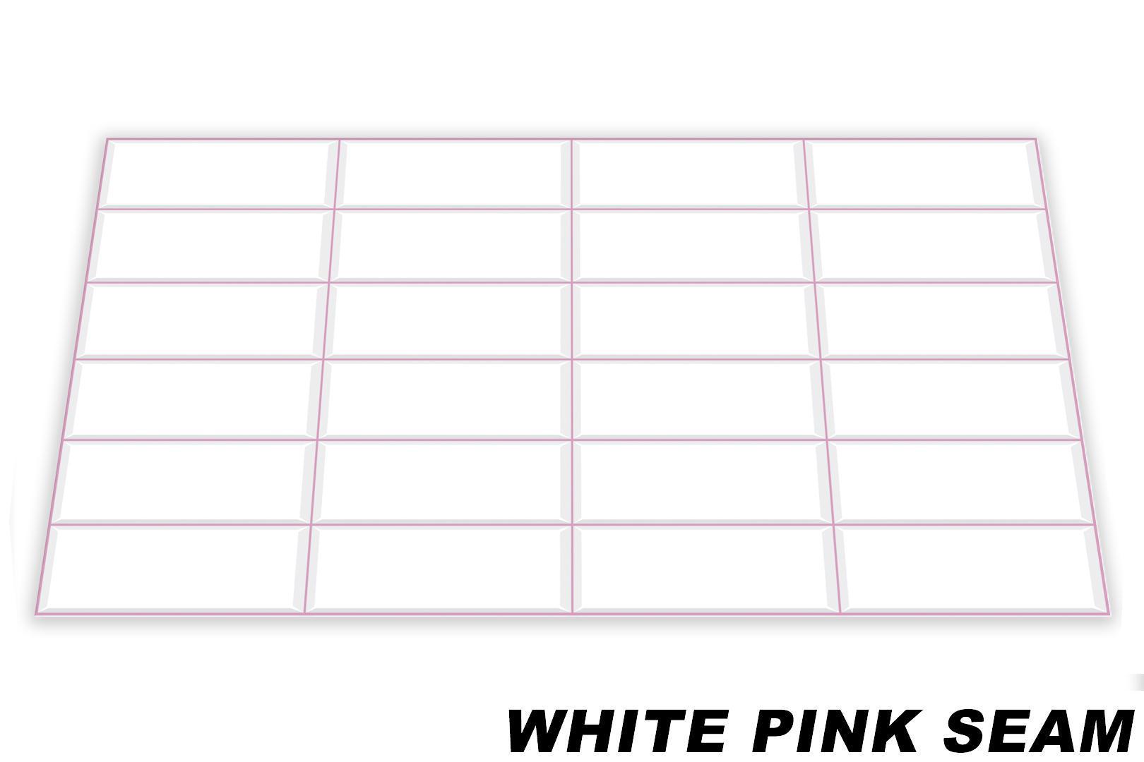 White pink seam originalbild