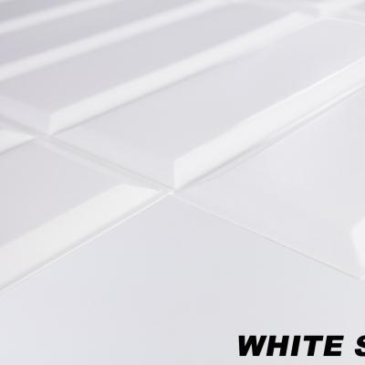 Panneau décoratif mural PVC 95x48cm, WHITE SEAM