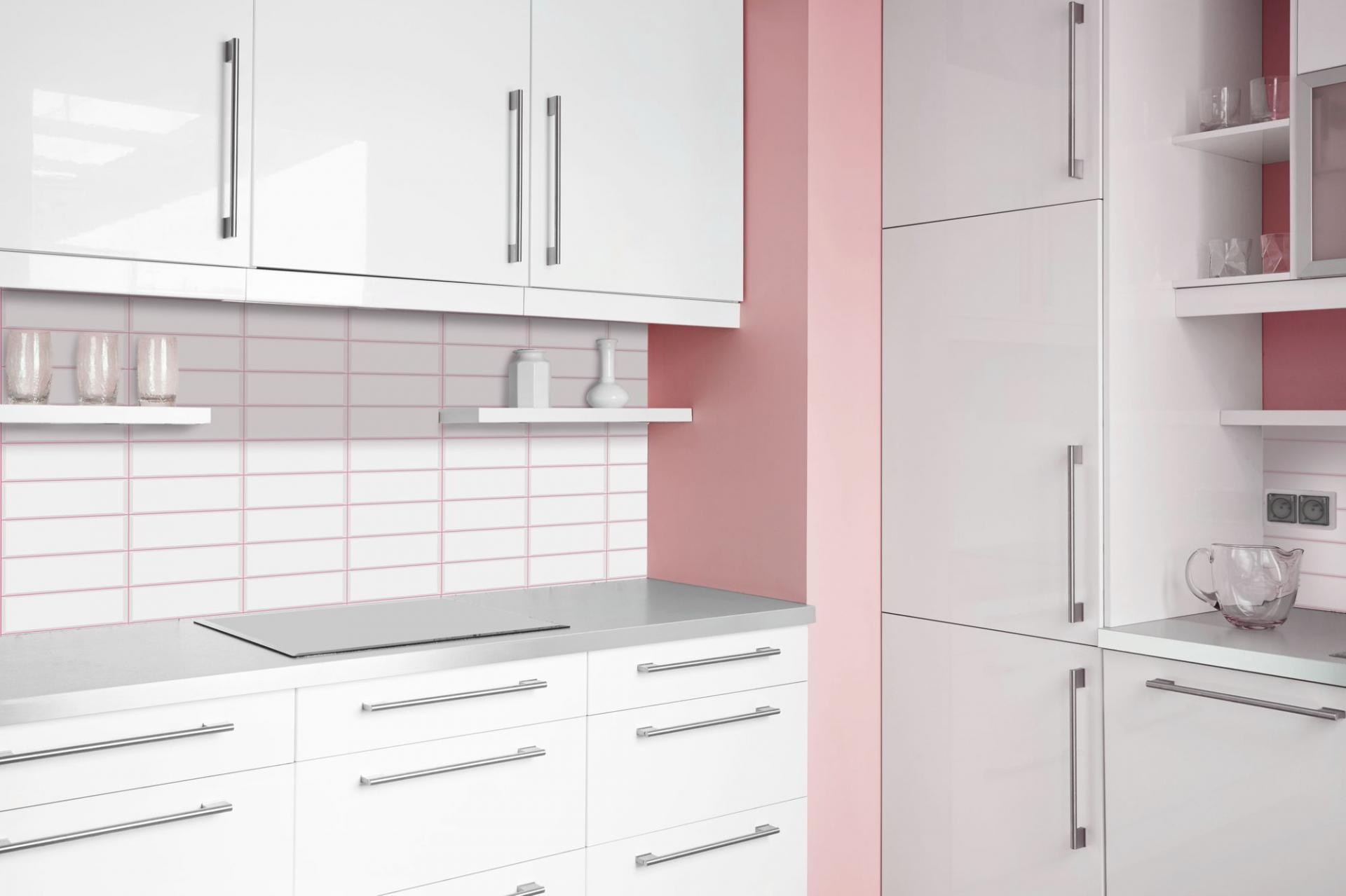 White tile pink seam 3